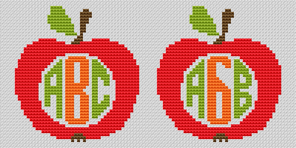 Back to school theme.A cross stitch pattern for a bookmark making.The first three letters of the alphabet in Cyrillic and Latin are given.