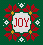 An original Christmas cross stitch card for your loved ones.