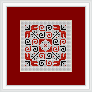 "Download and print the ""Biscornu"" cross stitch pattern"
