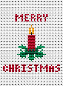 A small Christmas card. This cross stitch pattern is very suitable for beginners.