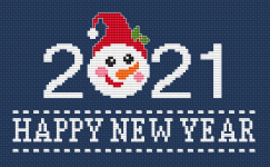 Let's celebrate the New Year 2021 with this cheerful design and hope for a better year!