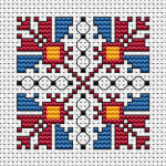 Another  beautiful motif inspired by the old Bulgarian embroidery.