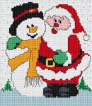 Santa and Snowman pattern