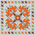 A beautiful motif from the Bulgarian traditional embroidery adapted for cross stitch.