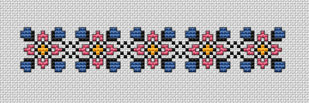 Border or Bookmark - a simple cross stitch pattern with two purposes.