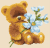 Baby Bear with Flowers