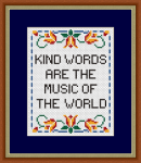 Kind Words Sampler pattern