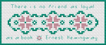 Hemingway Bookmark pattern