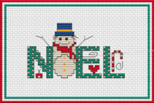 Noel and Snowman pattern
