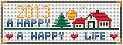 Happy Home Happy Life pattern