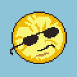 Cute pattern of the sun smirking while wearing dark shades.