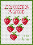 Strawberry cross stitch design.The pattern contains full stitches,back stitch and french knot.