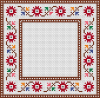 Floral Cross Stitch Frame