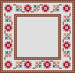 Floral Cross Stitch Frame pattern