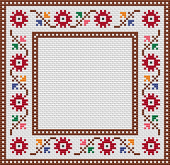 gradient an easy to stitch floral cross stitch frameborderthe pattern contains only full