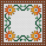 Cross stitched biscornu has become very popular over the past couple of years - easy and fun to make them.This is one of our free biscornu charts - 39x39 stitches only. You can download more patterns here and here