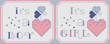 The birth of a new baby is a special occasion in every family. This free cross stitch chart can be used for stitching a card to welcome the child into this world. Each chart is designed especially for either a boy or a girl.
