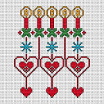Christmas Motif with Hearts pattern