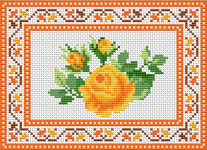 Farewell with Roses pattern