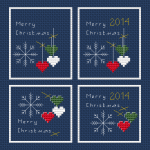 Mini Christmas Cards (Set of 4) pattern