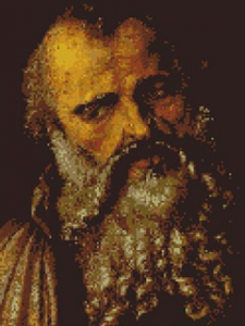 "Download and print the ""Saint Philip"" cross stitch pattern"
