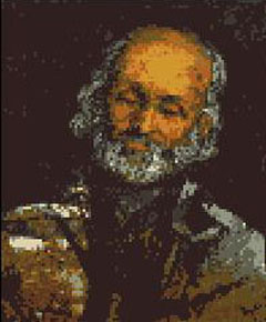 "Download and print the ""Head of an Old Man"" cross stitch pattern"