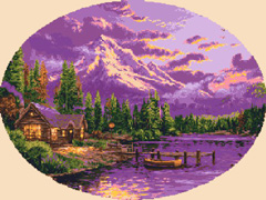 "Download and print the ""Summer Sunset"" cross stitch pattern"