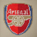 Arsenal Logo pattern