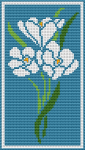Blue Flowers Motif pattern