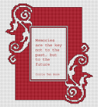 Red Cross Stitch Frame pattern
