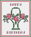 Happy Birthday Basket pattern