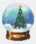 Christmas-themed cross stitch