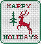 Happy Holidays pattern