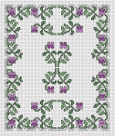 Floral Border Violets pattern