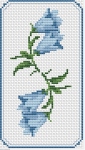 Floral motif for bookmarks, borders or other crafts projects.