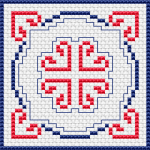 Simple Biscornu pattern