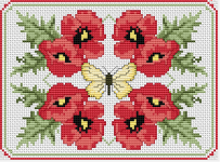 Poppies Composition pattern
