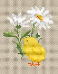 Chick and Flower pattern