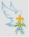 Christian and religious-themed cross stitch