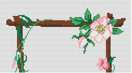 Frame with Flowers pattern