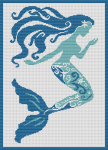 A cross stich pattern of a Mermaid for all the girls that feel a Mermaid inside themselves.
