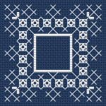 Dark Blue Biscornu pattern