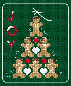 Gingerbread Joy free cross stitch pattern