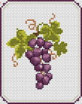 Beautiful pattern of a bunch of grape with stem and leaves.