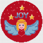 Angel with a Heart pattern