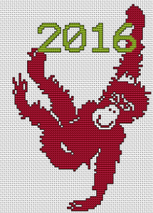 Cute red fire monkey pattern.2016 is the Year of the Monkey according to Chinese zodiac