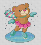 Teddy Girl on Ice pattern