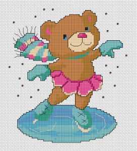 Let it snow! Everyone has favorite things to do.Cute teddy bear riding on ice skates.