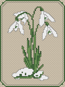 Beautiful design inspired by a Snowdrop flower - one of the Spring symbols.