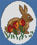 Bunny Easter pattern